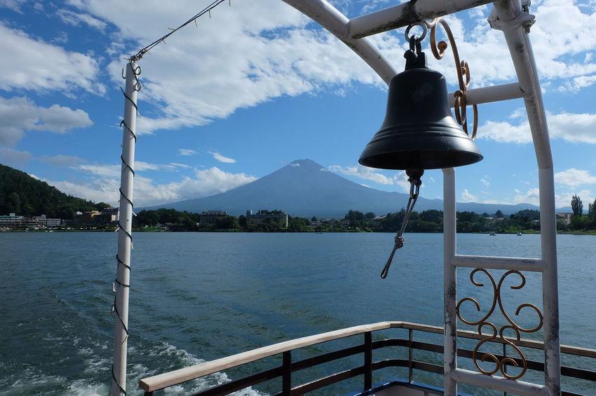Bell Fujisan Lakeview Beauty In Nature Boat Cloud - Sky Kawaguchiko Lake Mountain Scenics - Nature Sky Water