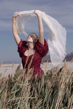 with the wind The Great Salt Lake Great Salt Lake Utah Young Women Sand Dune Beach Beautiful Woman Women Happiness Summer Smiling Standing Beauty Head Back Calm Tranquil Scene Tranquility