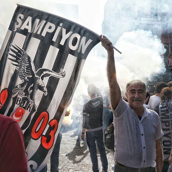 Besiktas Beşiktaşk Casual Clothing Day Flair Focus On Foreground Football Hooligan Hooliganism Hooligans Leisure Activity Lifestyles Outdoors Portrait Soccer