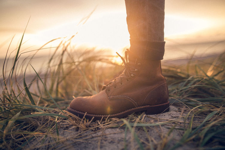 Boots Leather Wanderer Wanderlust Craftmanship Heritage Outdoors Shoes Sunset