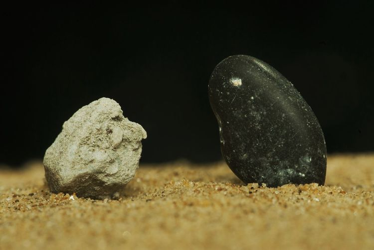 Close-up of sand on field