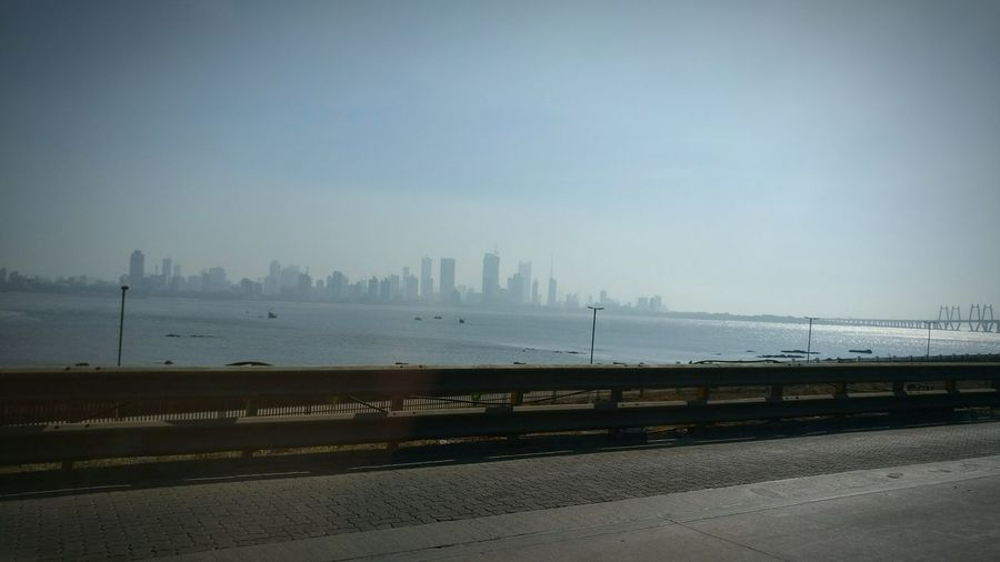 Sea Beach Water City Scenics Outdoors No People Beauty In Nature Urban Skyline Day Beautiful ♥ EyeEm Best Shots MumbaiDiaries Sea And Sky Seascape Mumbai Cityofdreams  Skyline Urban Highrises Highrisebuilding