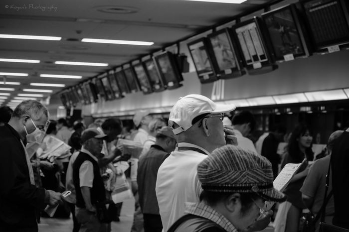 Racecourse Betting Ticket Shop Tokyo Racecource EyeEm EyeEm Best Shots Black & White Black And White Blackandwhite Fret