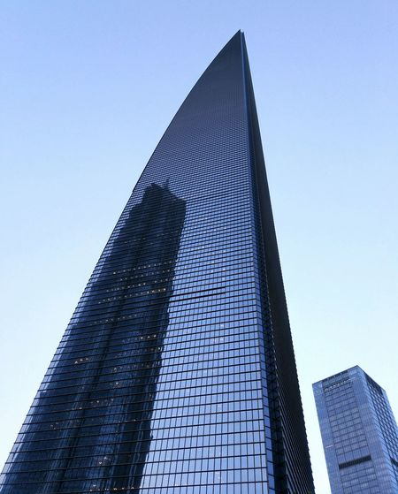 Modern Modern Architecture Pattern, Texture, Shape And Form Architecture Blue Building Exterior Built Structure City Life Clear Sky Low Angle View Modern No People Reflacted Glass Reflaction Sharp Skyscraper Tall Tall - High Tower Travel Destinations