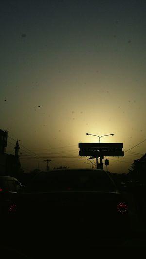 Traffic Cars Evening Sky
