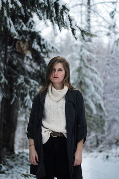 Portrait Looking At Camera Winter Blond Hair Standing Fashion Beautiful Nature Canada Canon Forest One Person Outdoors 50mm F1.8 Young Adult Snow Lightroom Edit Cool Tones West Coast Looking At Camera Girl Focus On Foreground Cool