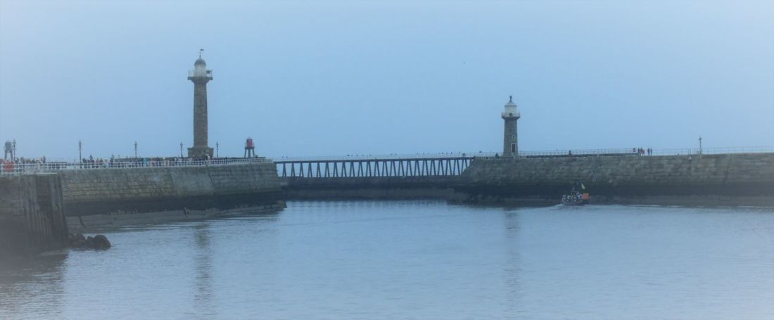 Lighthouse Pier Sea Seaside Whitby Whitby Harbour Yorkshire