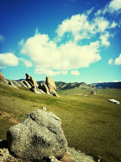 MONGOLIA Landscape Nature_collection Rocks Clouds And Sky