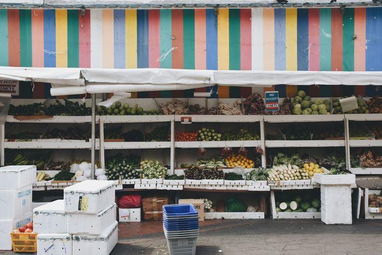 Food At Street Market Stall