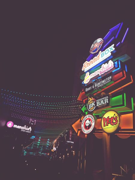 Which way? Night Illuminated Arts Culture And Entertainment Neon