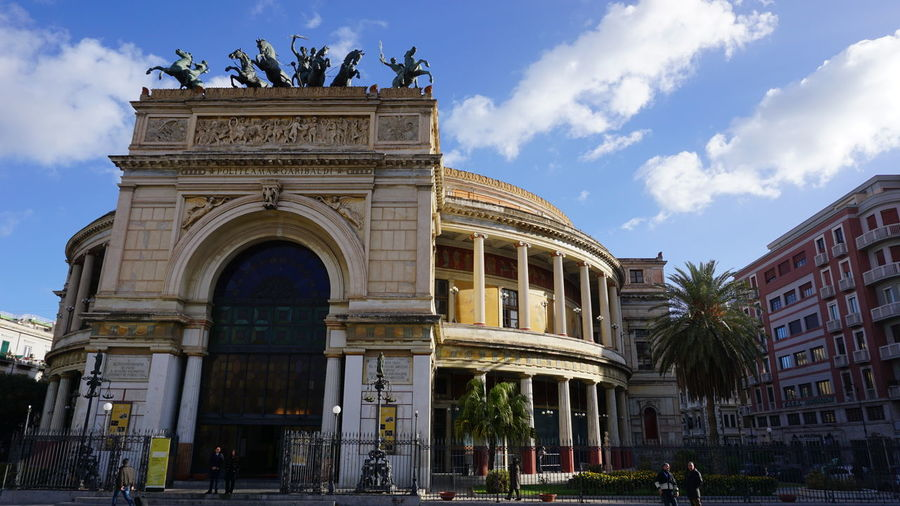 Politeama Theater. Piazza Politeama, Palermo, Sicily, Italy. Blue Sky Blue Italy Sicily Palermo Sony Photographer Photo Sonyalpha Sony A6000 Travel Travel Destinations Streetphotography Street Vacations Architecture_collection Horse Photography Vacation Horse Sculpture Horses Politeama Theatre Palermo Sicilia Italia Politeama Architectural Detail Architecture