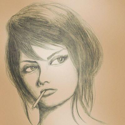 Sophia Loren by Sharp Pencil HB 0.5mm. Art MOVIE Cinema Illustration Actress Sophialoren Pencilillustration