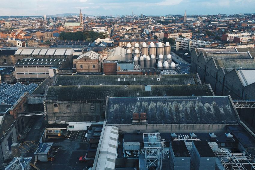 View over the Guinness Brewery