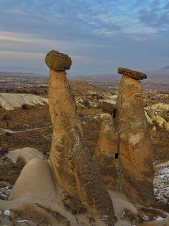 Cappadocia/Turkey Landscape Landmark No People Outdoors Rock - Object Nature Cloud - Sky Fairy Chimneys Mushroom Shaped Volcanic Landscape Volcanic Rocks Mountain Range Travel Destination Turkey💕 Unessco World Heritage Site Open Air Museum Lunar Landscape Seanics