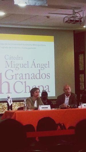 Carmen Aristegui! Mexico City University PERIODISMO Cultura Mexicana