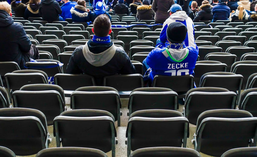Adult Adults Only Chair Crowd Day Hertha BSC In A Row Outdoors People Repetition Seating Bench Stadium Stadium Atmosphere Stadium Seating Suporter Zecke
