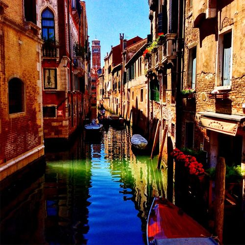 A canal in Venice Canal Venice Architecture Water Boat House Narrow Lovely City Nature Culture World Traveller Adventure All My Photos Adicted To  Photographing Photographer Myhobby Wayoflife