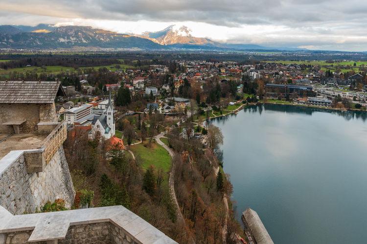 Exciting views along lake bled. slovenia