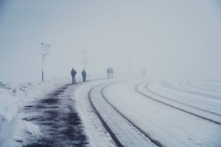 Cold. Cold Cold Temperature Wintertime Winter White Brocken Train Station Travel Destinations The Week On EyeEm Winter Snow Cold Temperature Weather Nature Outdoors Beauty In Nature The Way Forward Transportation Frozen Scenics Landscape Snowing Field Day Road Tranquility Tire Track Real People Snowdrift