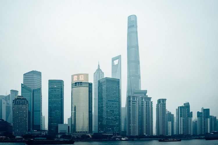 Shanghai Cityscape... Arc+ Building Exterior Office Building Exterior Architecture Skyscraper Built Structure Building City Sky Cityscape Landscape Modern Tall - High Urban Skyline Nature No People Travel Destinations Office Tower Day