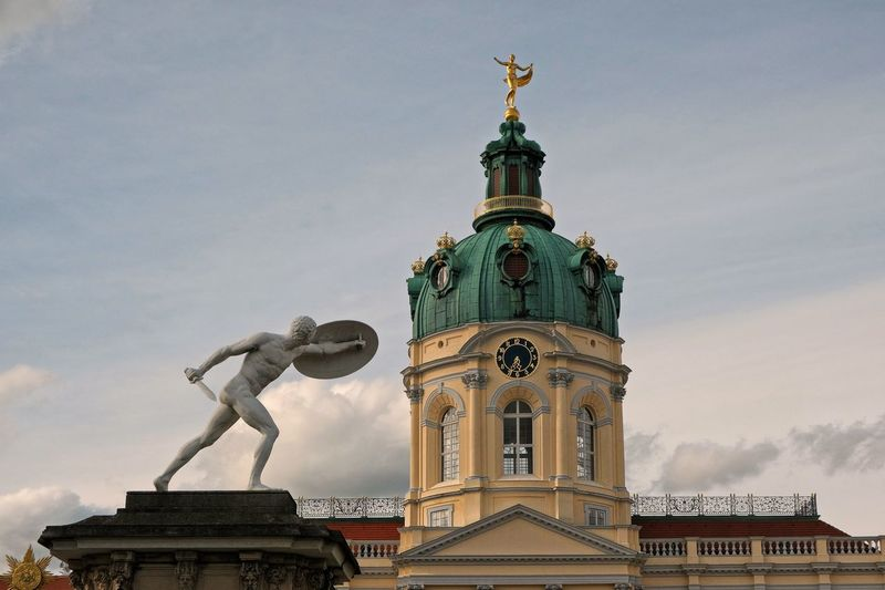 Schloss Charlottenburg 😉📷⚔️ Schloss Charlottenburg Politics And Government City Statue Sculpture Clock Face Clock Government Sky Architecture Building Exterior Historic History Historic Building Castle