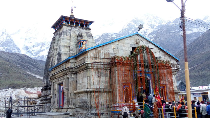 Kedarnath dham temple Day Built Structure Building Exterior Outdoors Architecture Sky Travel Destinations Winter Cold Temperature Snow No People Landscape Kedarnath Ancient Civilization Sculpture Architecture Winter Tourism Travel