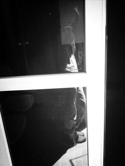 Shadow On The Windowdoor
