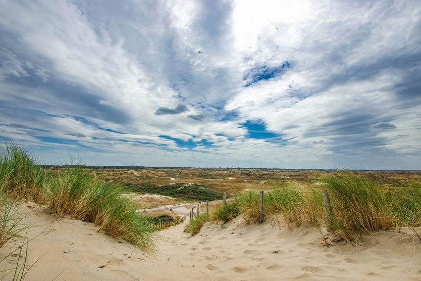 schön war's! @SaNnY318 Day Nature Genießen Beauty In Nature You And Me Seite An Seite Dramatic Sky Scenery Dunes Blue Sky Grass Landscape Cloud - Sky Tranquility Tranquil Scene Calm Idyllic Scenics