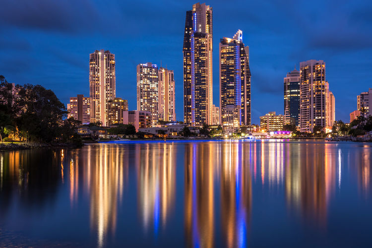 Reflection Apartment Architecture Building Building Exterior Built Structure City Cityscape Financial District  Illuminated Landscape Modern Nature Night No People Office Building Exterior Outdoors Reflection Sky Skyscraper Tall - High Tower Urban Skyline Water Waterfront EyeEmNewHere Capture Tomorrow