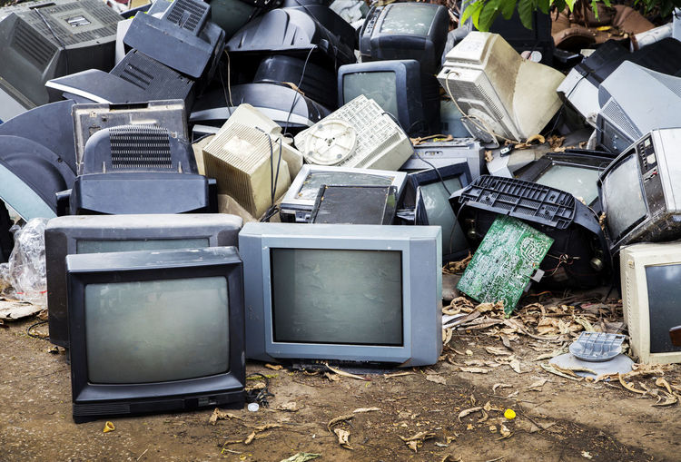 Obsolete Television Sets On Field