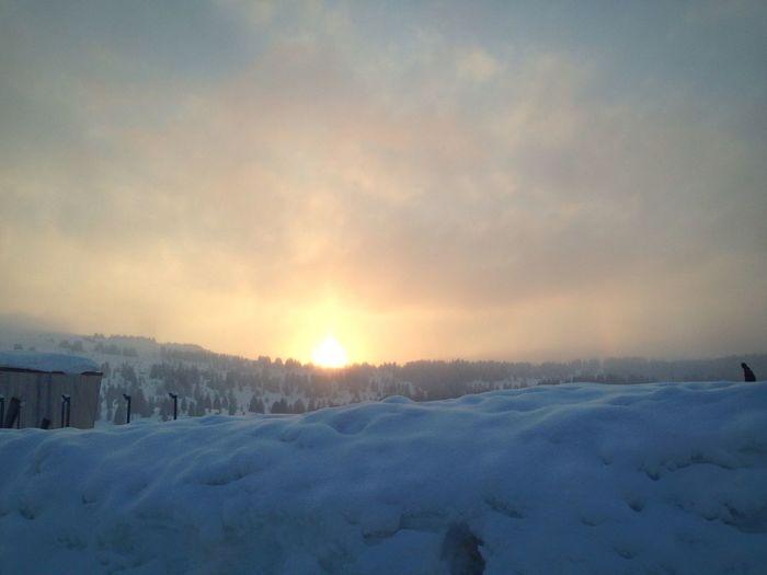 Couchée de soleil aux Saises Sunset First Eyeem Photo