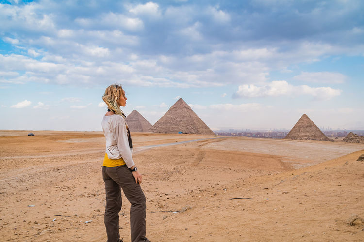 Sky Nature Outdoors Egypt Pyramids Giza Giza Pyramids Of Egypt Travel Destinations Trip Ancient Cairo Egypt Desert Tourism Egyptian Archaeology Architecture Historical Hot Heat - Temperature Summer Tomb Moments Of Happiness Its About The Journey It's About The Journey