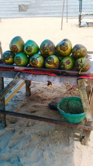 Green Coconut Gathered &arranged For Tourist At Gopalpur On Sea,Odisha