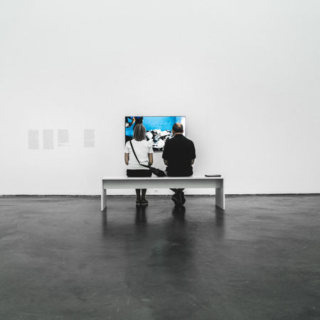 Deep Thought Arts Culture And Entertainment Museum Museum Of Contemporary Art Chicago Museum Of Modern Art People Real People Sitting Spot Color