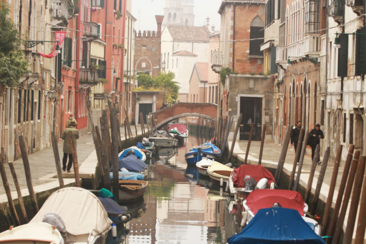 Architecture Boats Boats⛵️ Bridge Bridge - Man Made Structure Building Exterior City Day Fondamenta Mode Of Transport Nautical Vessel Outdoors Poles Real People Transportation Venice Venice Canals Venice, Italy