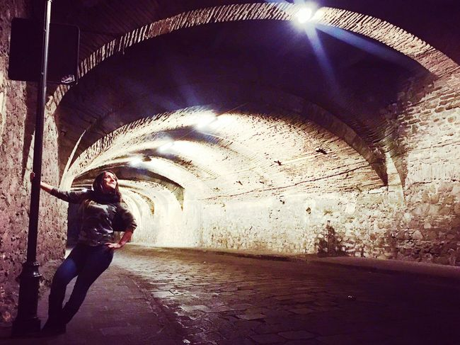 Tunnel One Person Real People Indoors  Full Length Young Adult Standing Lifestyles Young Women