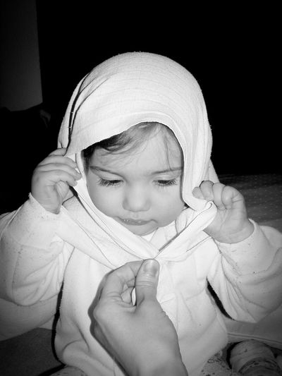 Black And White Blackandwhite Photography Black & White Black And White Portrait Black And White Collection  White Clothes White Cloth Baby Toddler  Babygirl Babyface Babylife Toddlerlife Matka Tereza Mother Teresa Strong Woman Dont Want To Smile Capucine Saint Santa Maria Saint Mary Playtime Hard Life
