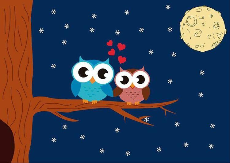 feliz día buhita mía! Owls Illustrations  Love Loveiseasy Enjoying Life Happiness Illusography Illustration Drawing Colors