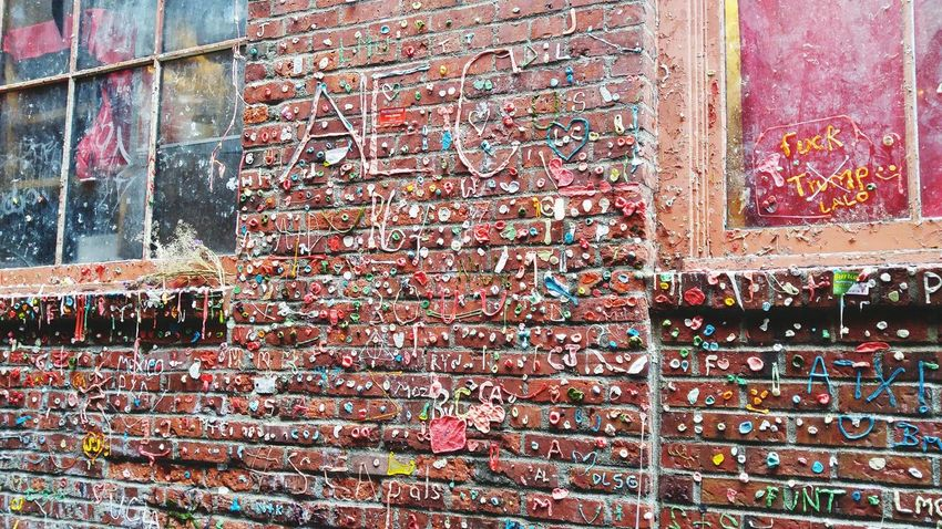 Gum Wall SeattleLife Outdoors Sticky Wall Tourist Attraction  Seattle Washingtonstate