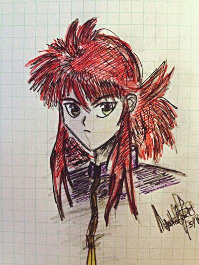 My Drawing Manga Painting Yuyu Hakusho