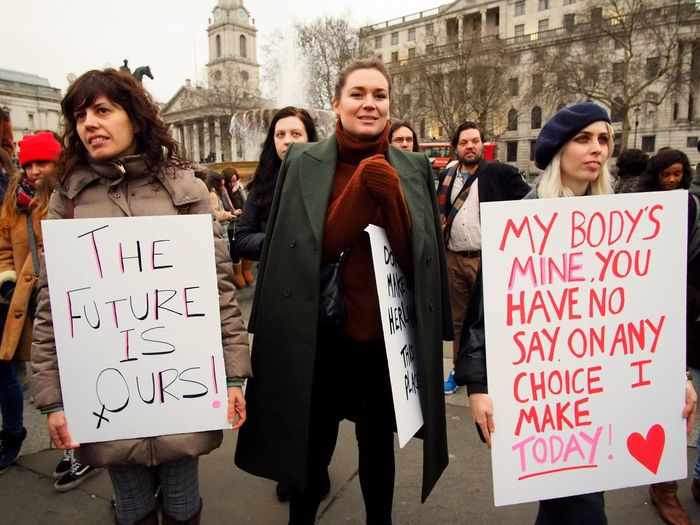 Womens March. London. 19/01/2019 Equality Womens March 2019 Womens March Womens March London Protesters Protest London News Stevesevilempire Steve Merrick OM-D Olympus Group Of People Building Exterior Architecture Text Men City Communication