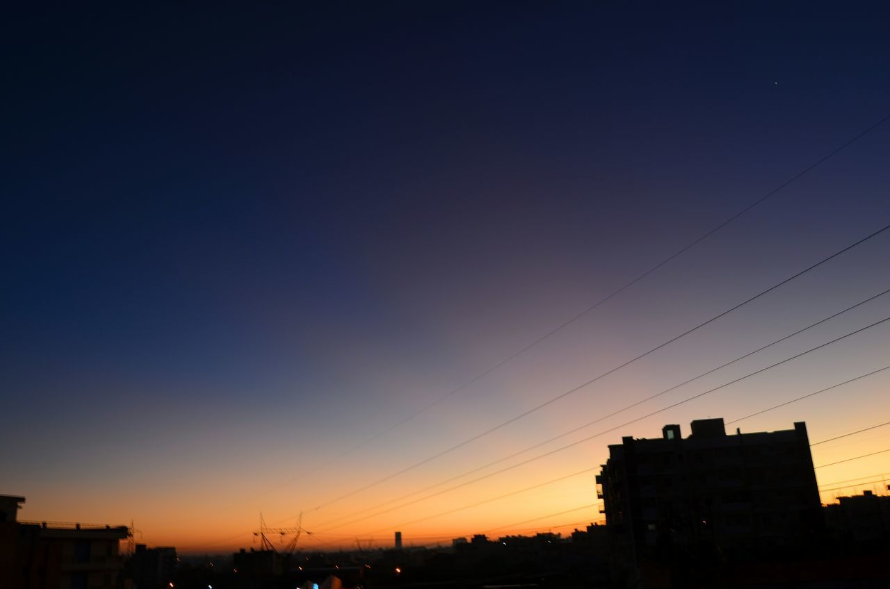 sunset, silhouette, architecture, building exterior, no people, clear sky, outdoors, nature, sky