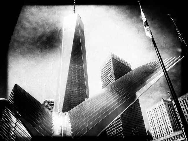 World Trade Center Freedom Tower In New York Portrait Of America New York Blackandwhite IPhoneography