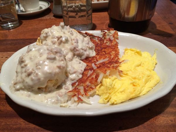 Biscuits Biscuits And Gravy Breakfast Close-up Eggs Food Freshness Gravy Hash Browns Indulgence Meal No People Ready-to-eat Served Serving Size Still Life Temptation