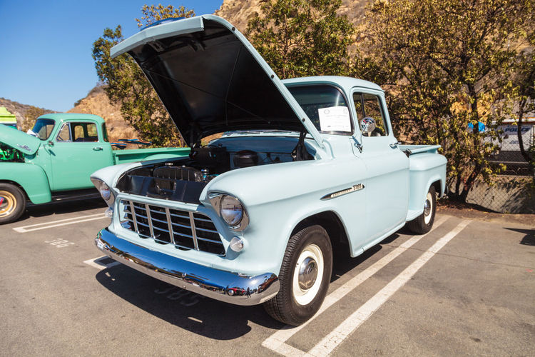 Laguna Beach, CA, USA - October 2, 2016: Light Blue 1955 Chevrolet 3100 Big Window Truck owned by Mike Montoya and displayed at the Rotary Club of Laguna Beach 2016 Classic Car Show. Editorial use. 1955 Big Window Truck Car Car Show Car Shows Cars Chevrolet Chevrolet 3100 Chevrolet Truck Classic Car Classic Car Show Classic Car Show Day Laguna Beach Land Vehicle No People Old Car Old-fashioned Outdoors Truck Vintage