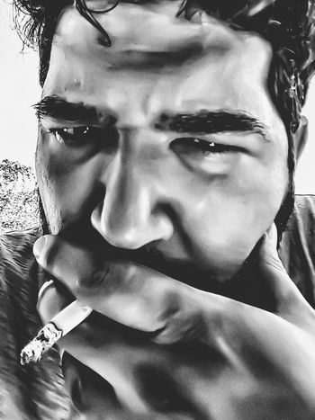 Self Portrait Selfietime Portraitmood Smoking Cigarettes. S7 Photography Portrait Bnw_collection Exceptional Photographs Black & White Light And Dark Extreme Edit Closeup-potrait