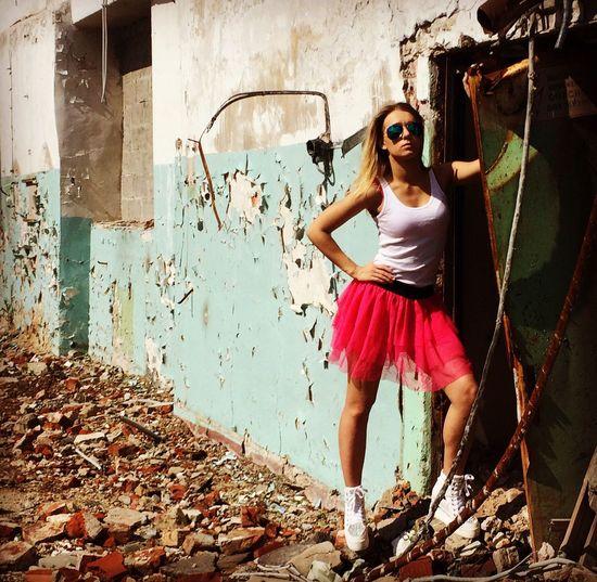Заброшенное здание в Москве москва #russia New Model модель Model Girl