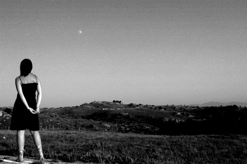1998 Black & White Country Country Life Countryside Land Scape Malancholic Mood Melancholic Landscapes Melancholy Moon Mountain Woman