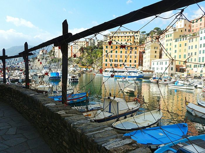 Architecture City Bridge - Man Made Structure Sky Cityscape Harbor Building Exterior Built Structure Water Outdoors No People No People, Camogli Italia Camogli EyeEm Gallery Gondola - Traditional Boat Sea Travel Destinations Sea And Sky Liguria Scenics Beach Tourism Sand Day