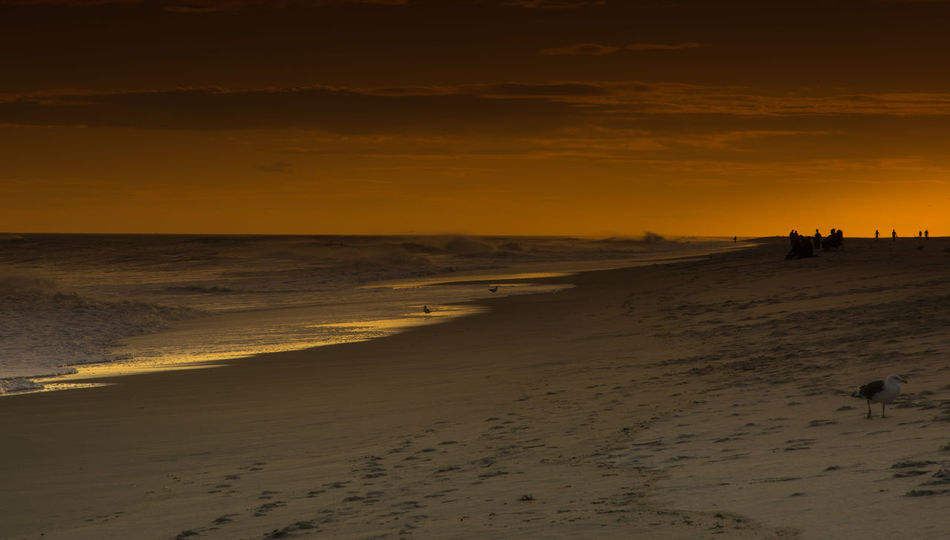 At the time when Maria storm was passing by Long Island Fire Island NY Sunset Silhouettes Beach Beachphotography Beauty In Nature Golden Hour Lifestyles Long Island, Ny Nature Outdoors Sand Scenics Sea Shore Silhouette Sunset Sunsets Travel Destinations